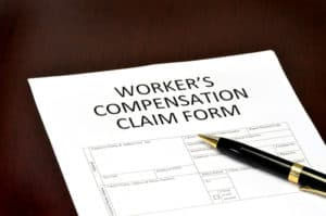 A Virginia workers' compensation claim form.
