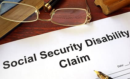 Social Security Disability Claim paperwork.