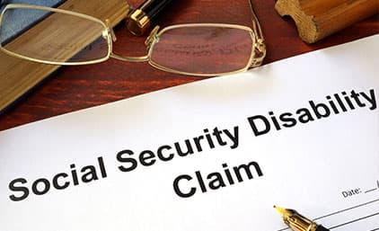 Virginia social Security Disability Claim paperwork.