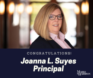 Joanna L. Suyes, Principal of Marks & Harrison Law Firm