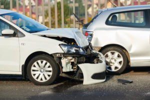 Blind spot causing car collision.